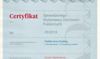 Certyfikat KCCW